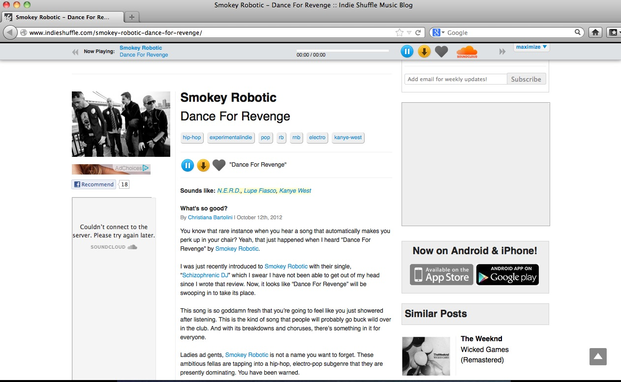 IndieShuffle_Dance ForRevenge_review