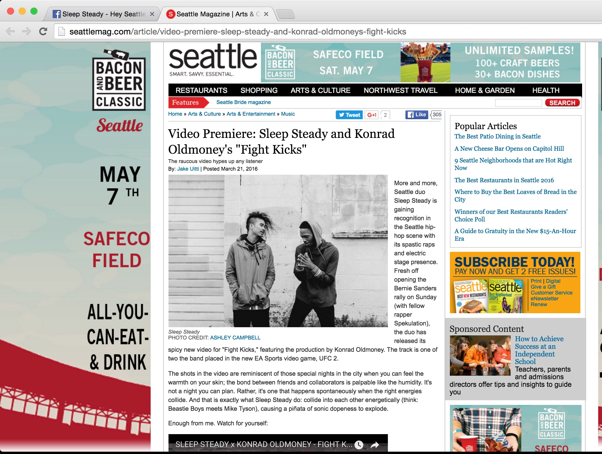 Seattle MAG , FIGHT KICKS coverage